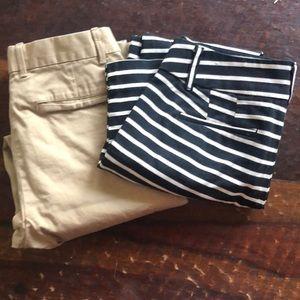 Bundle of two work pants loft, gap